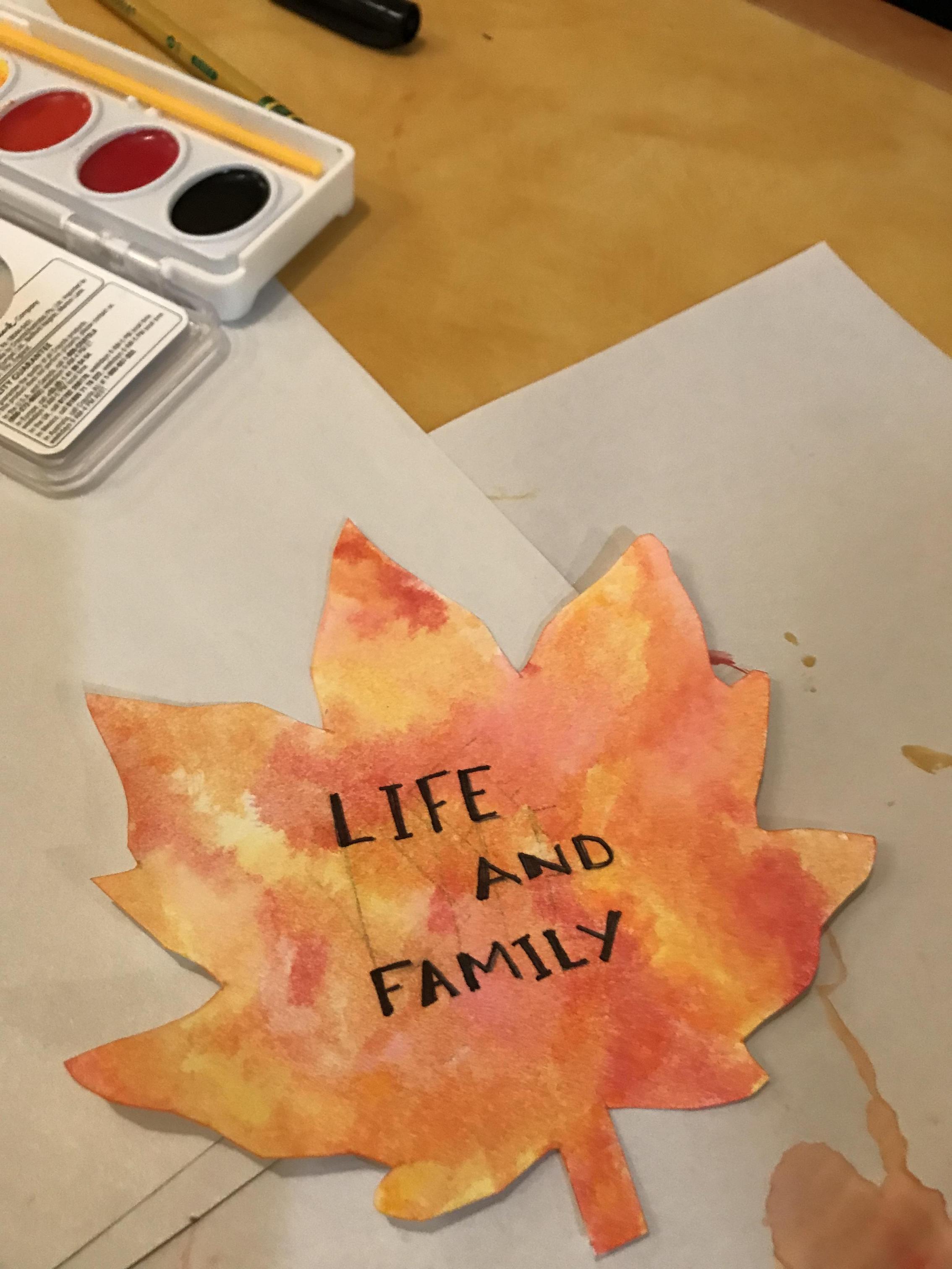 painted leaf, orange