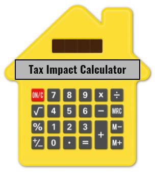 calculator shaped as a house
