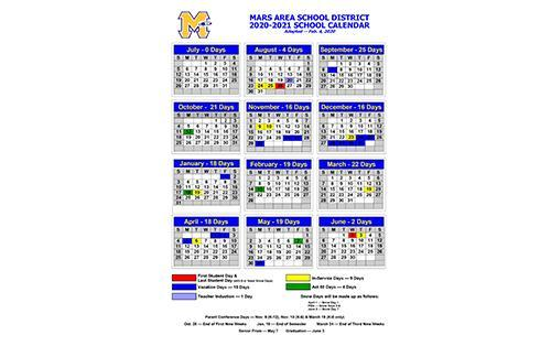 Photos of Butler Area School District Calendar 2021-22
