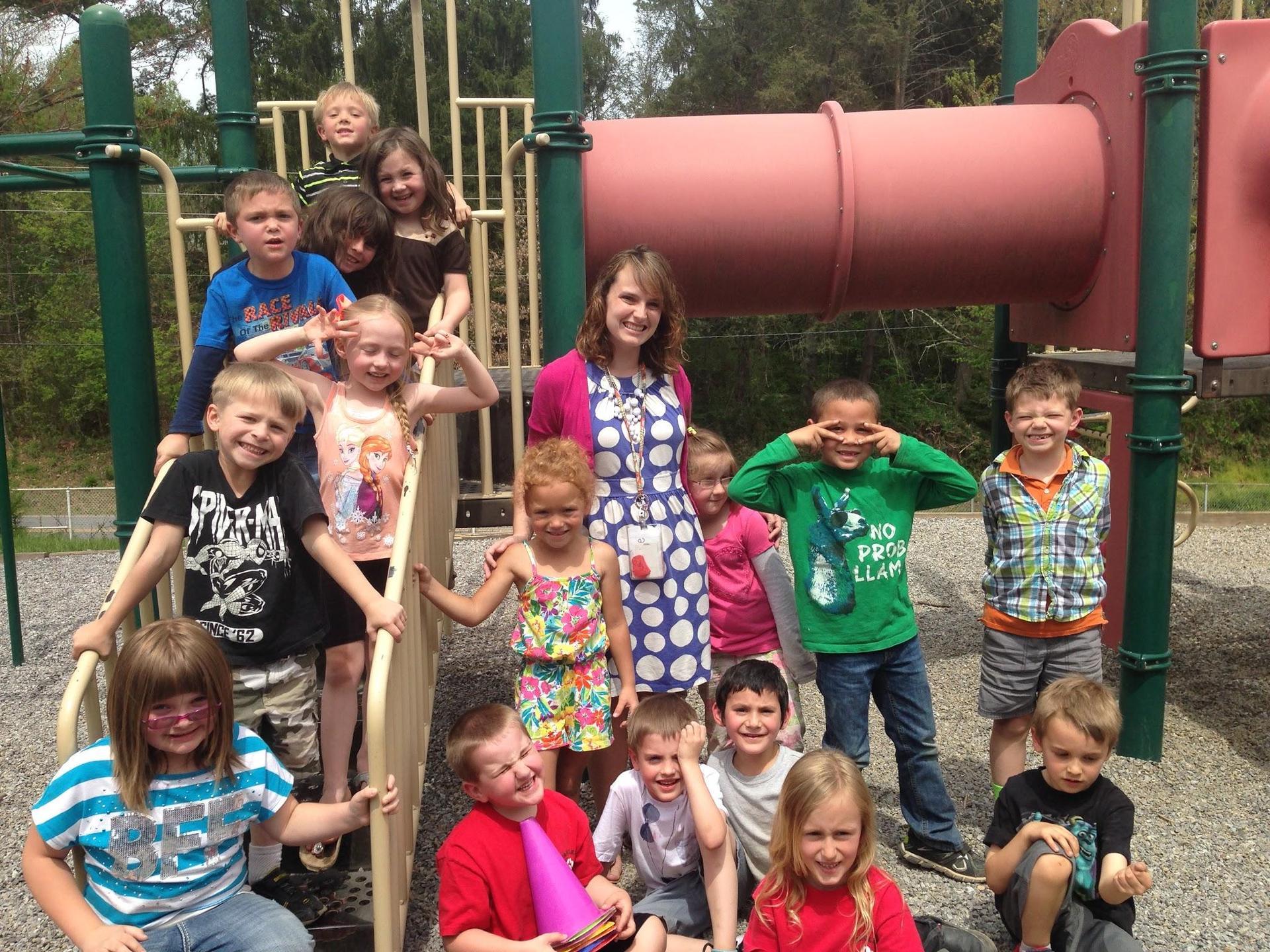 My kindergarten class in 2016