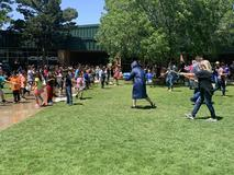 End of the year water balloon battle