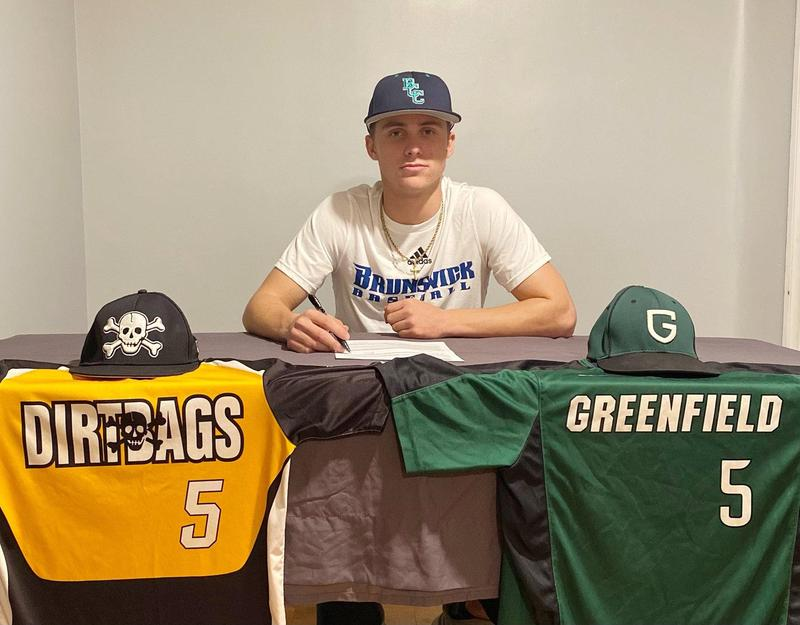 Baseball dreams, ocean life guide Greenfield's Justin Holland to Brunswick CC Featured Photo