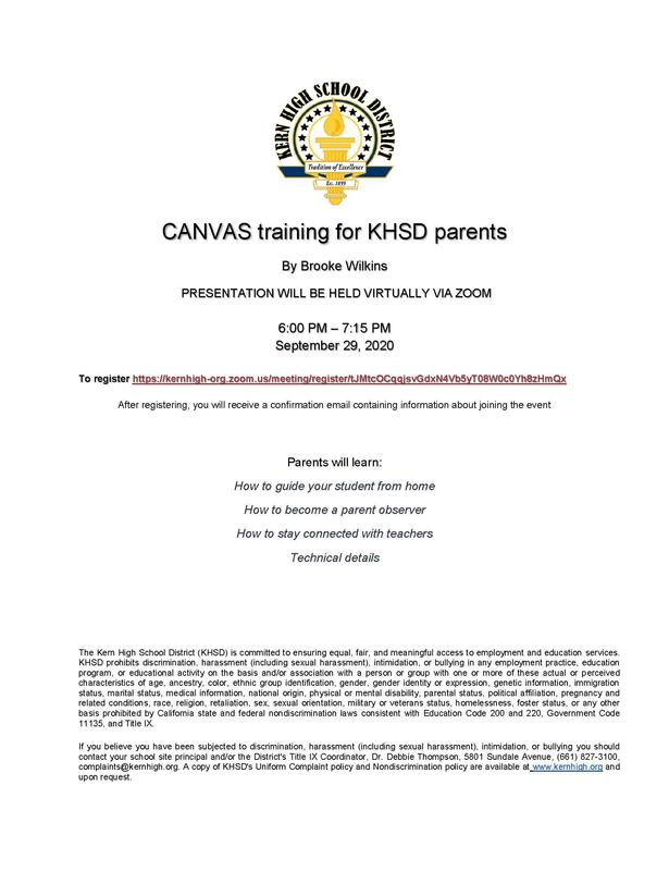 Canvas Training for Parents