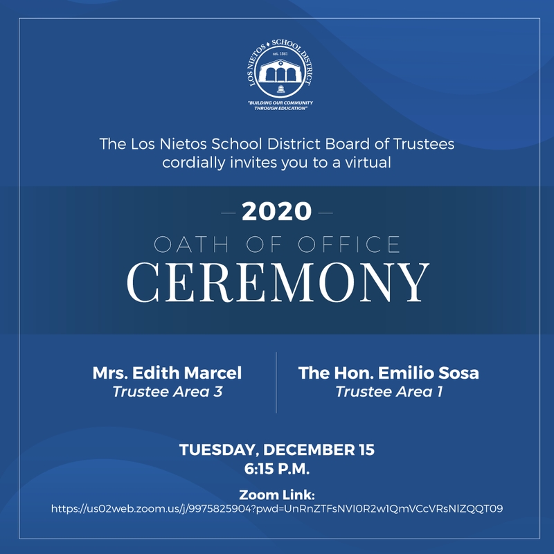 Virtual Oath of Office Ceremony Featured Photo