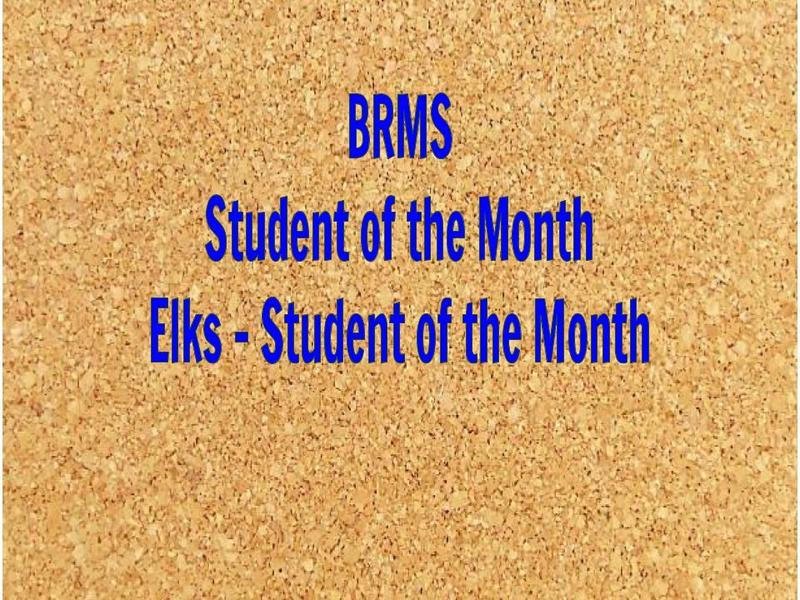 BRMS Digital Bulletin Board - December - Students of the Month Featured Photo