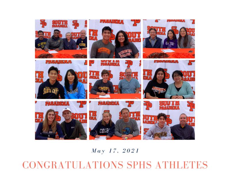 Collage of celebrated athletes