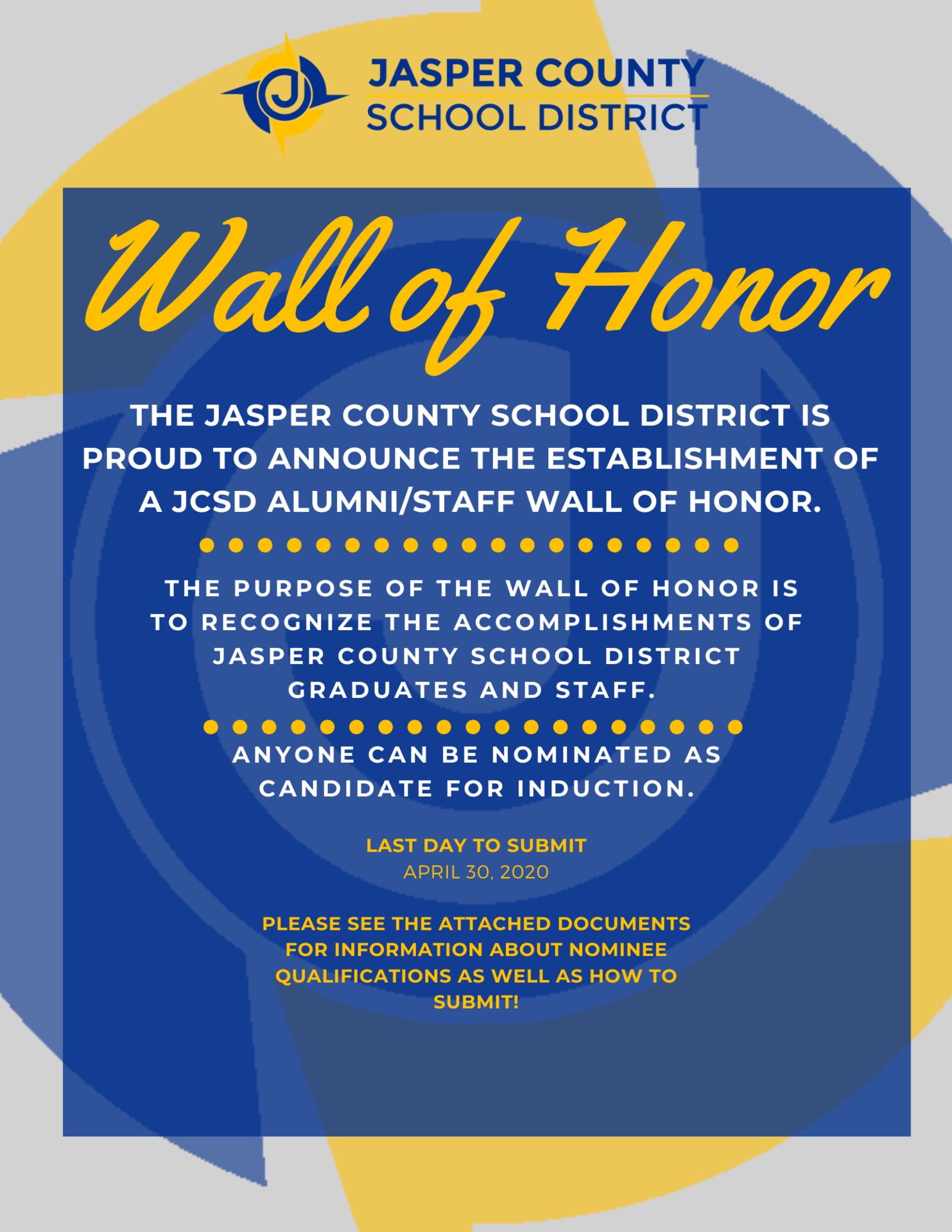 Wall of Honor Flyer