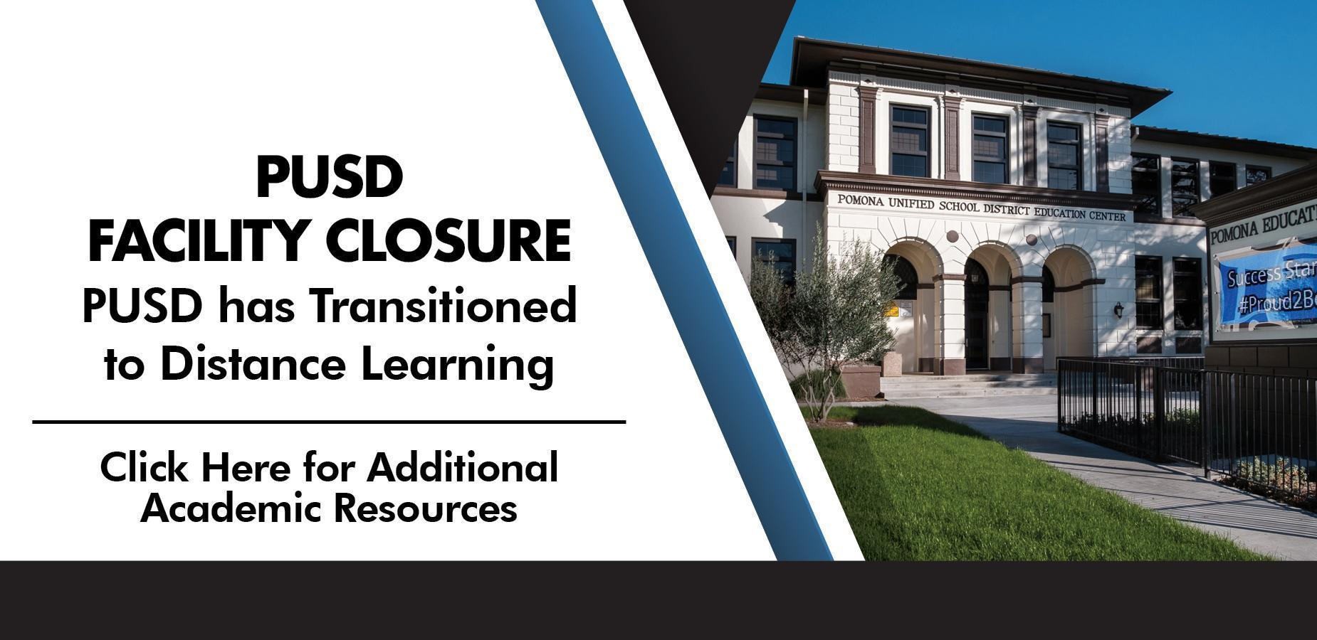 PUSD School Closure Banner