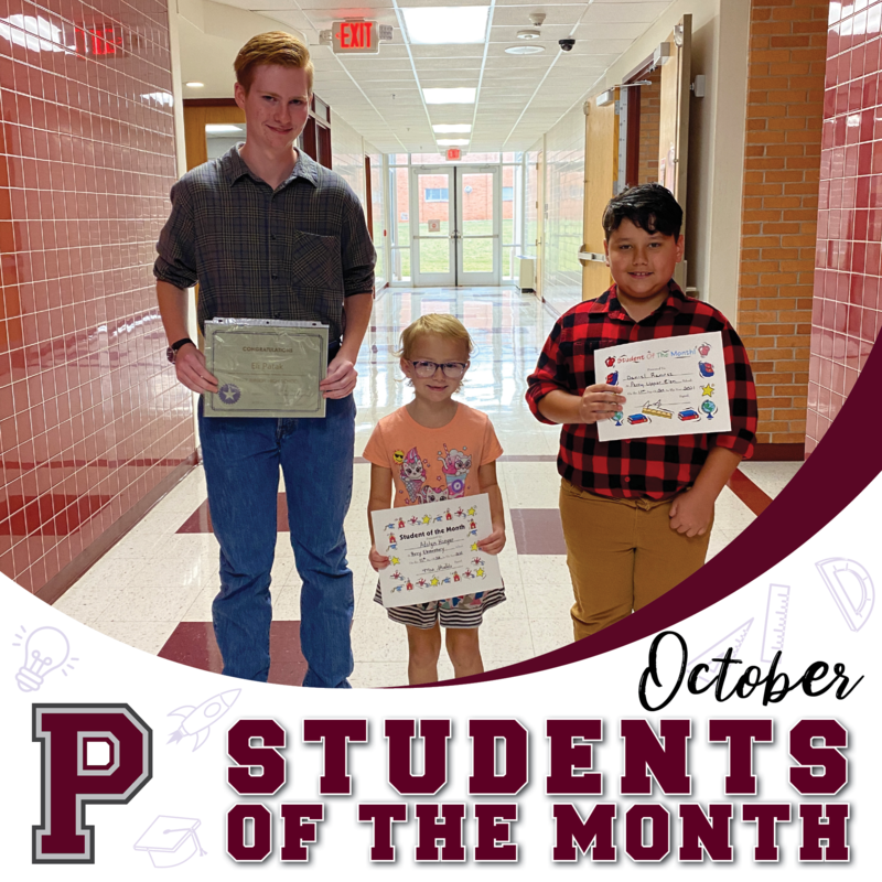 Congrats to our October students of the month!