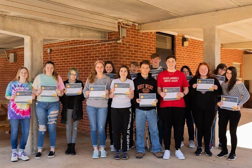 Congratulations to Mr. Carter's Microsoft Word and PowerPoint students at West Wilkes High School for passing their Word 2016 certification exam! #CTEWilkes
