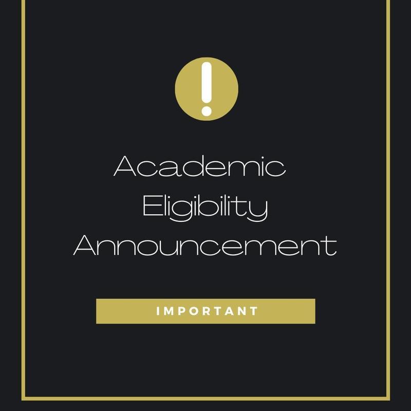 academic eligibility announcement