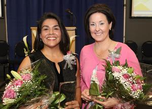 Edinburg CISD selects 2019-2020 District Teachers of the Year. Pictured (L-R): District Secondary Teacher of the Year Delia Perez and District Elementary Teacher of the Year Michelle Hope Frazier.