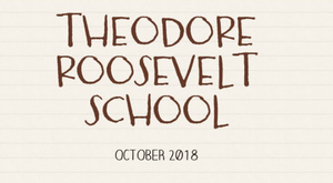 Roosevelt School Newsletter October 2018