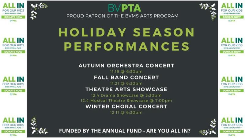 BVMS Holiday Season Performances Are Here! Featured Photo
