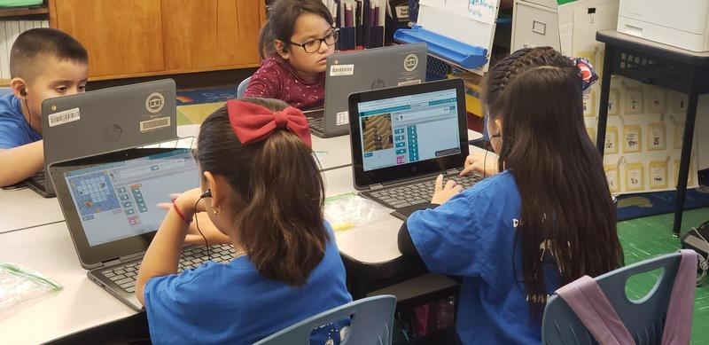 At Lexington the 1st-grade students learn to code, but most impressive is how easily they operate a computer with they acquired technical skills!