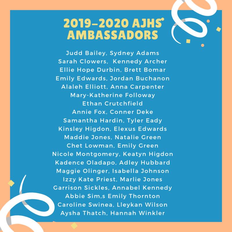 Congratulations to our 2019-2020 Ambassadors