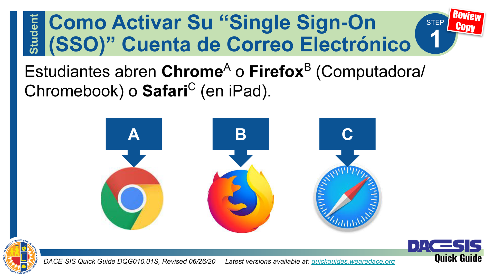 How to Activate Your Student Single Sign-on (SSO) Email Account - English Thumbnail