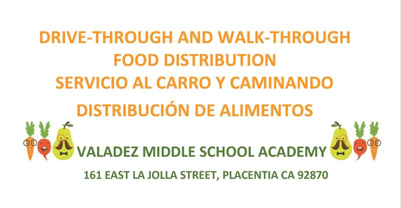 Drive-Through & Walk-Through Food Distribution at Valadez Middle School on May 6, 2020