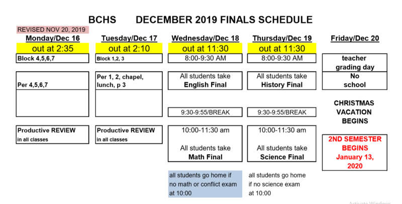 Finals Schedule Featured Photo
