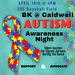 Infographic about April 18 autism event