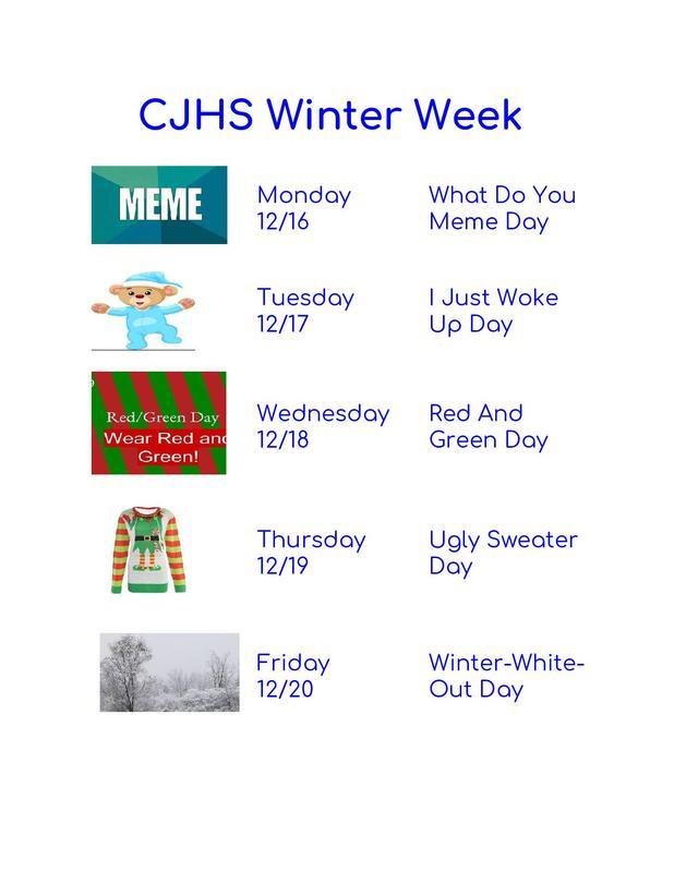Winter Week Dress up Days - Dec. 16-20 Thumbnail Image