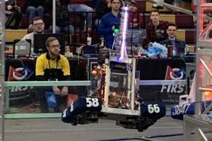 iron tigers robotics team competes at district meet