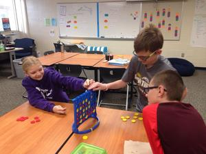 Students play a game during their LINKS time.