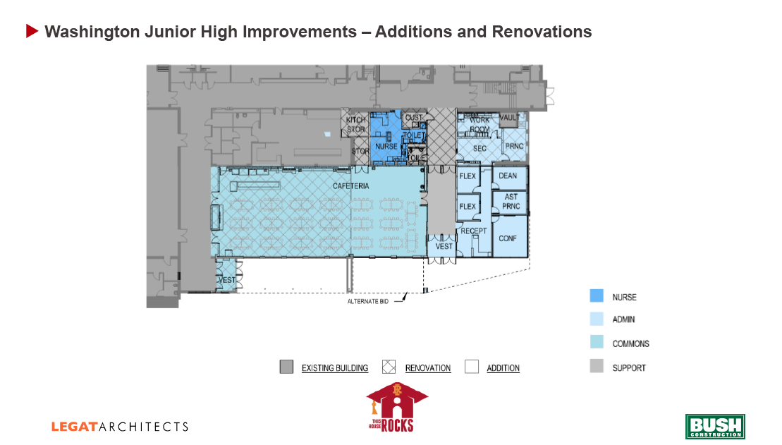 Washington Jr. high design spec floor plan