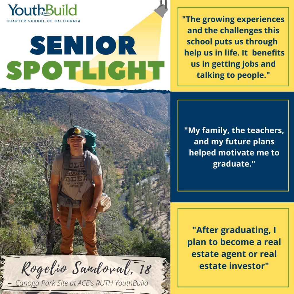 Senior Spotlight for graduate Rogelio Sandoval