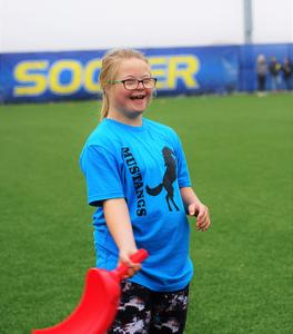 students take part in adaptive field day