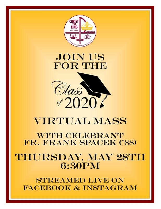 Class of 2020 Virtual Mass Featured Photo