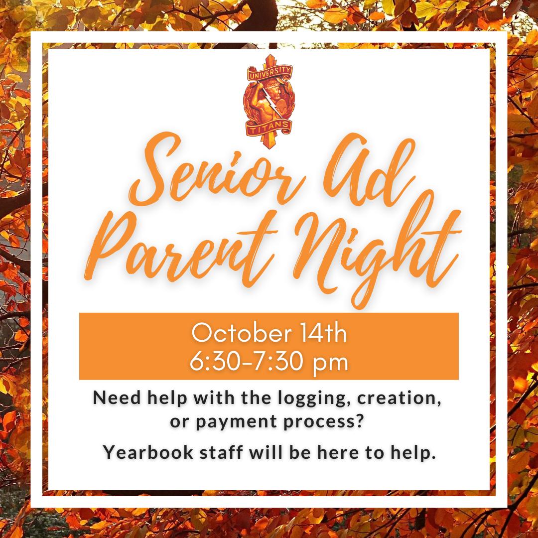 Senior Ads Parent Night