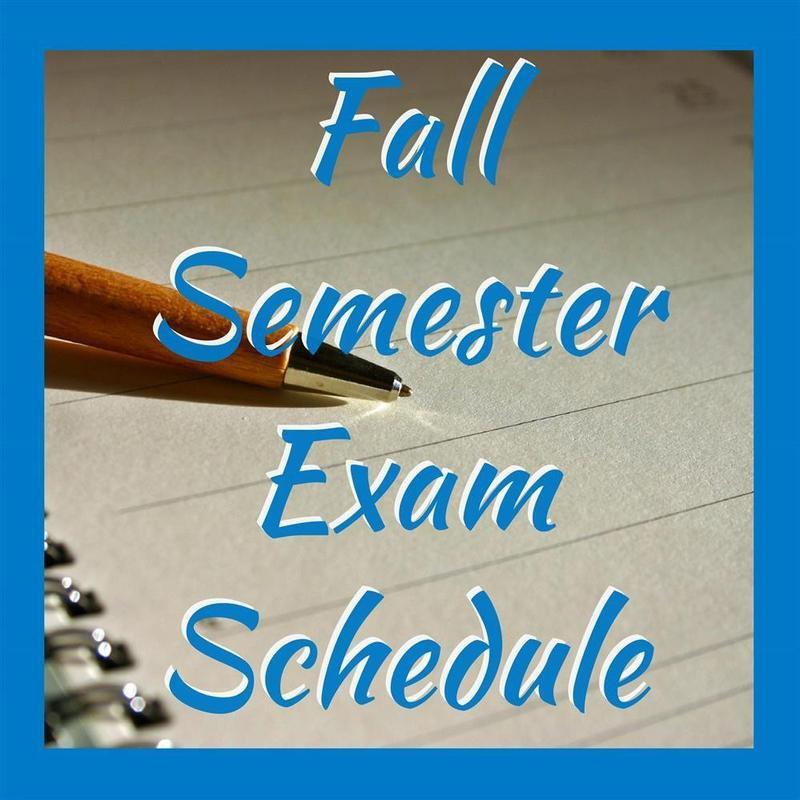 Fall exam schedule