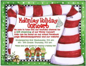 Winter Concert Live Stream Flyer