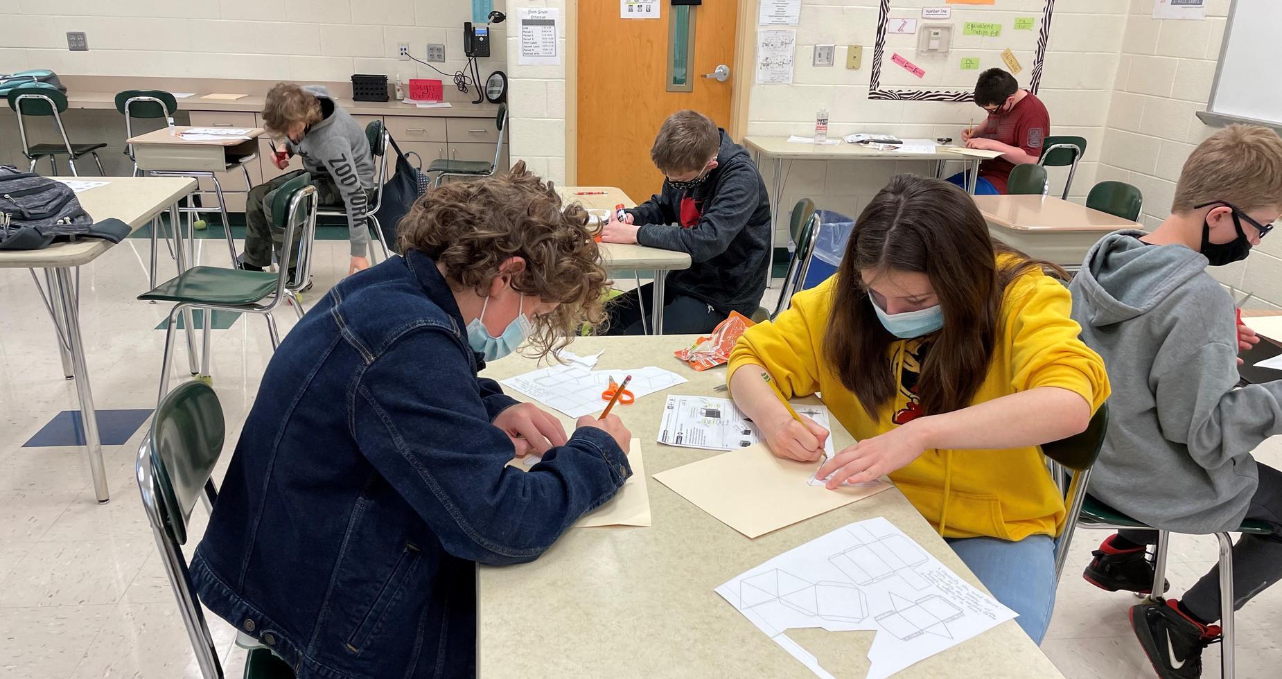 sixth grade math students
