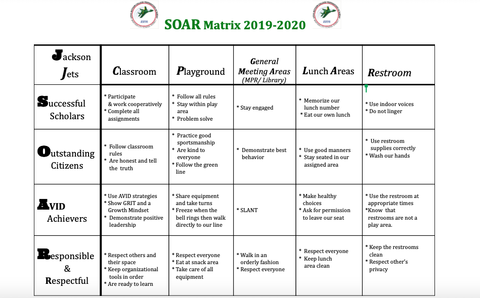Image of Jackson's SOAR Matrix.