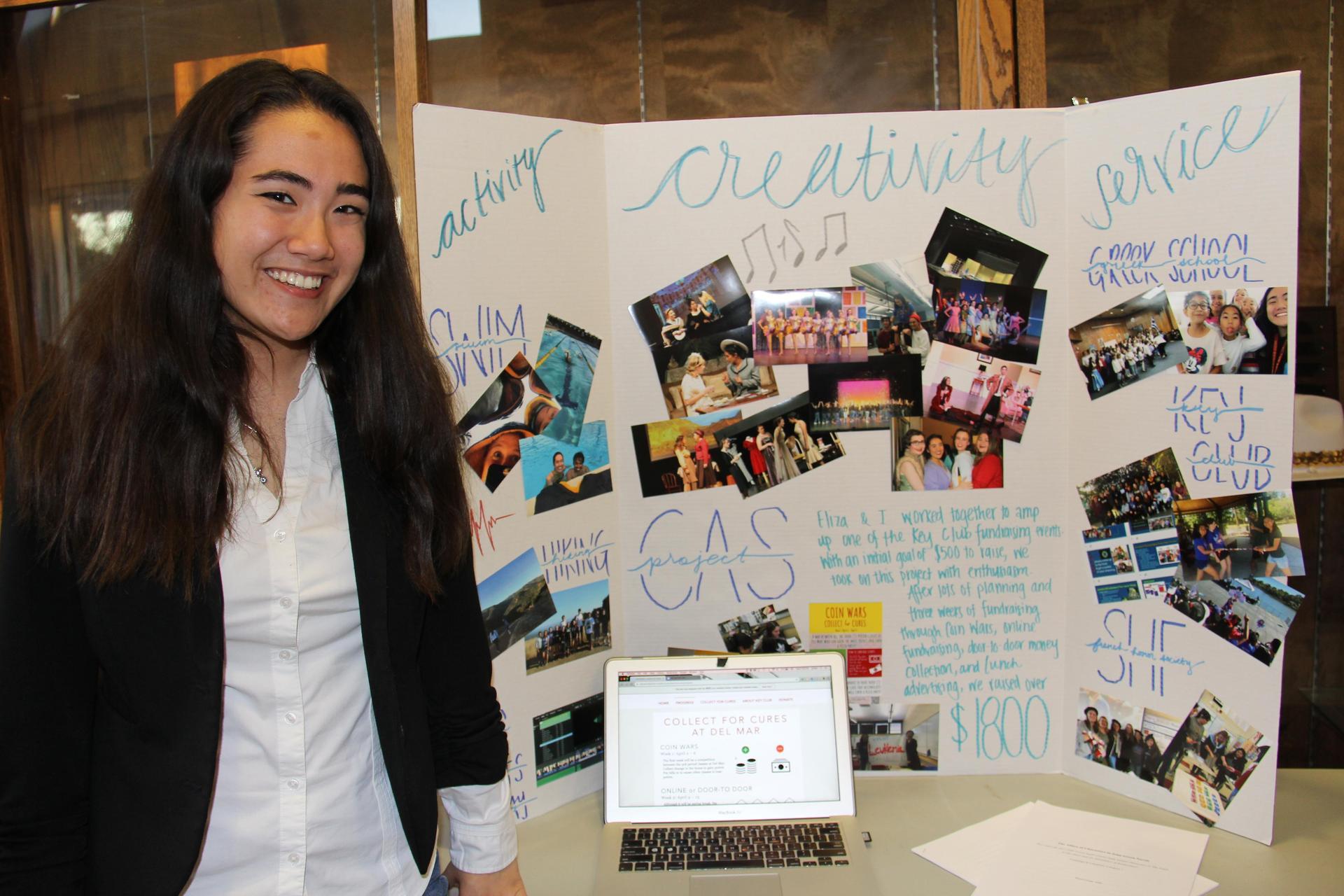 Image of IB Student - Jordan - showcasing her Creativity, Activity & Service experiences