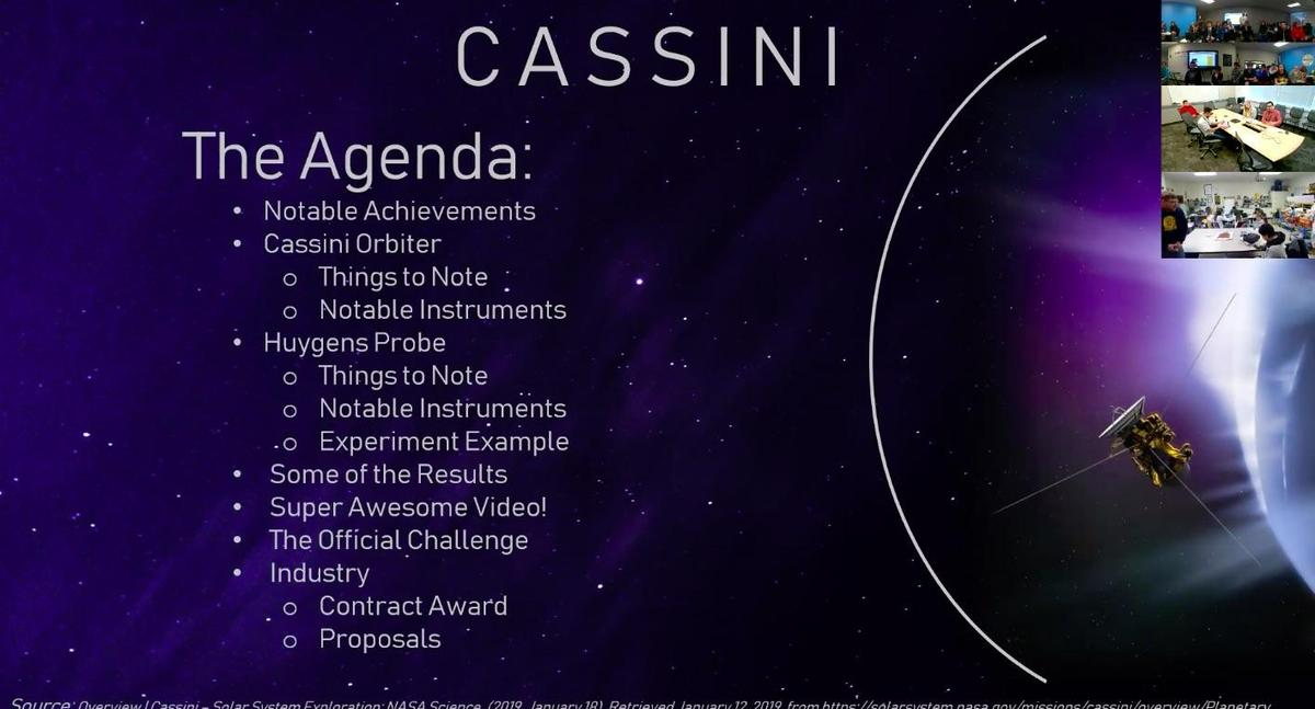 Cassini Inspired Learning