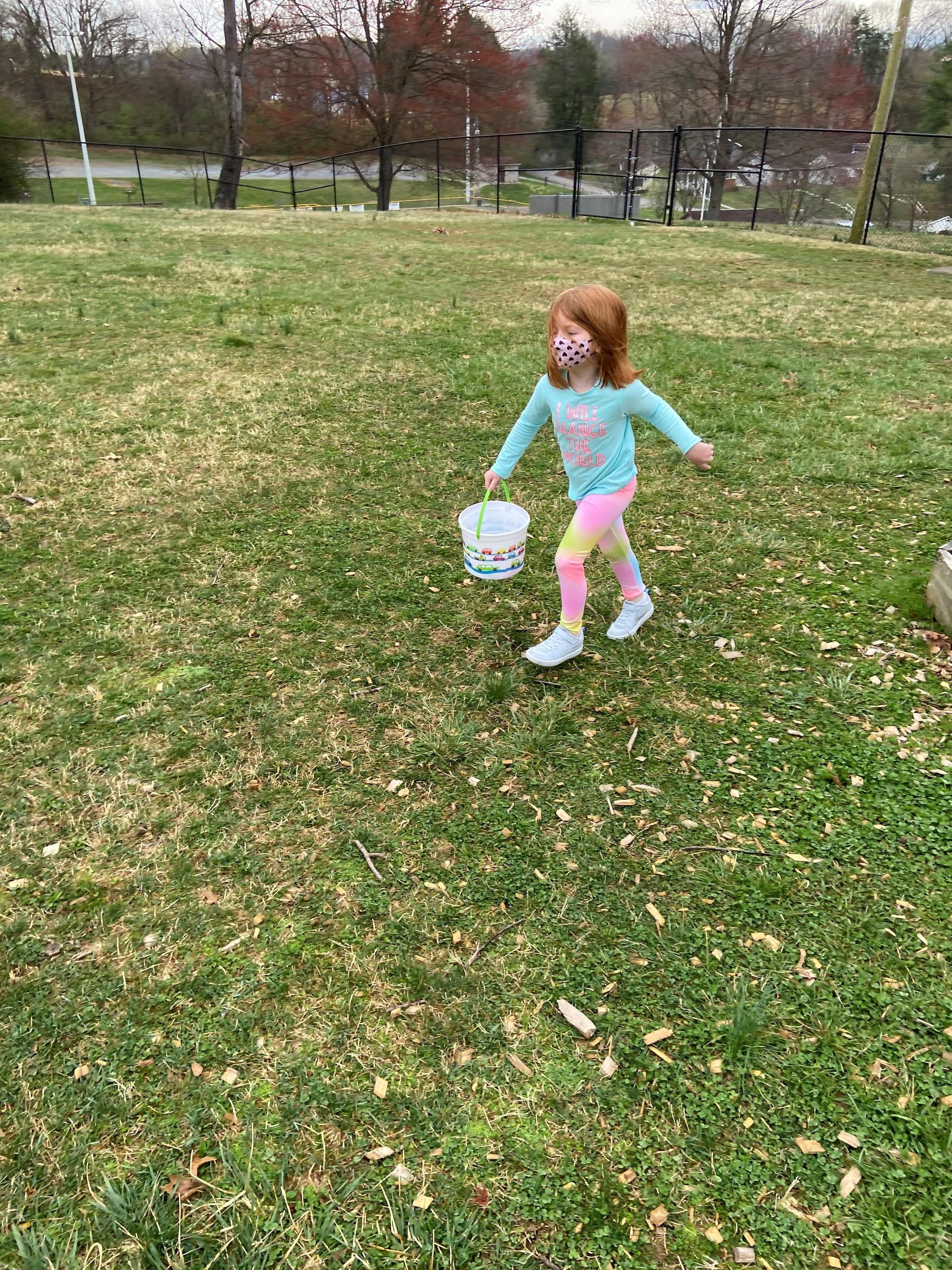 Pre-K egg hunt
