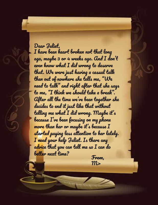 Letter to Juliet from M.