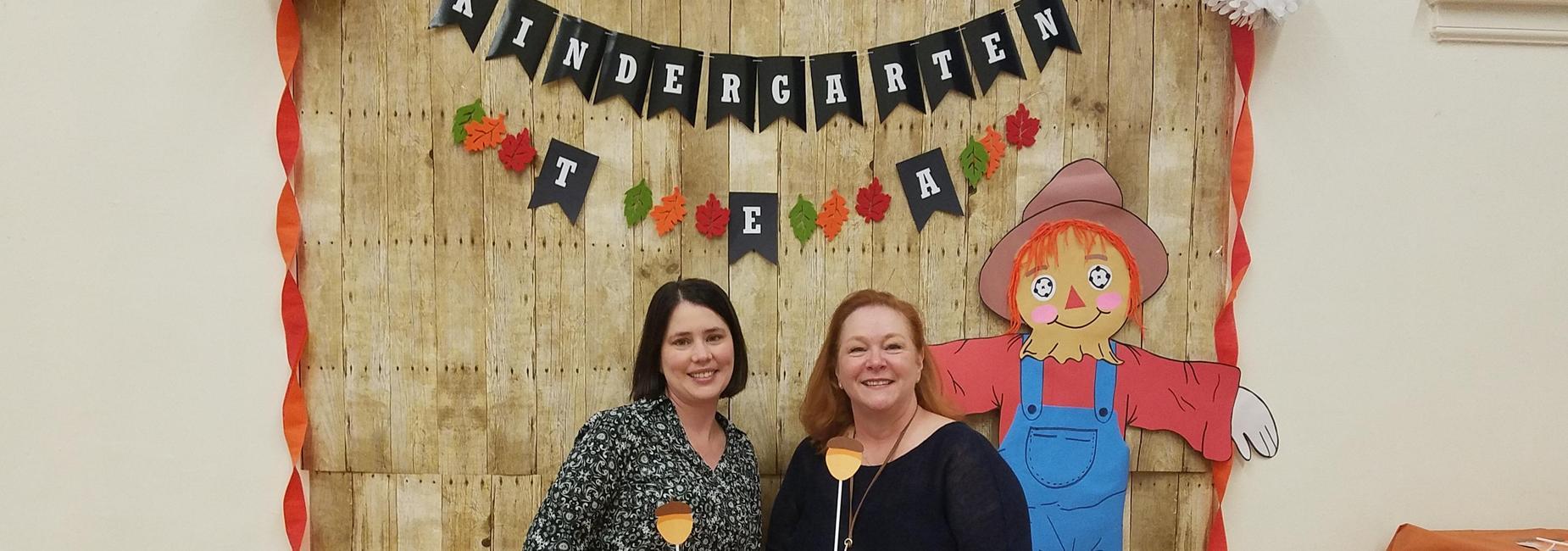 Principal and Asst Principal at kindergarten tea
