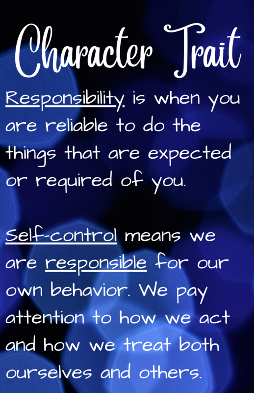 Character Trait Focus - Responsibility Featured Photo
