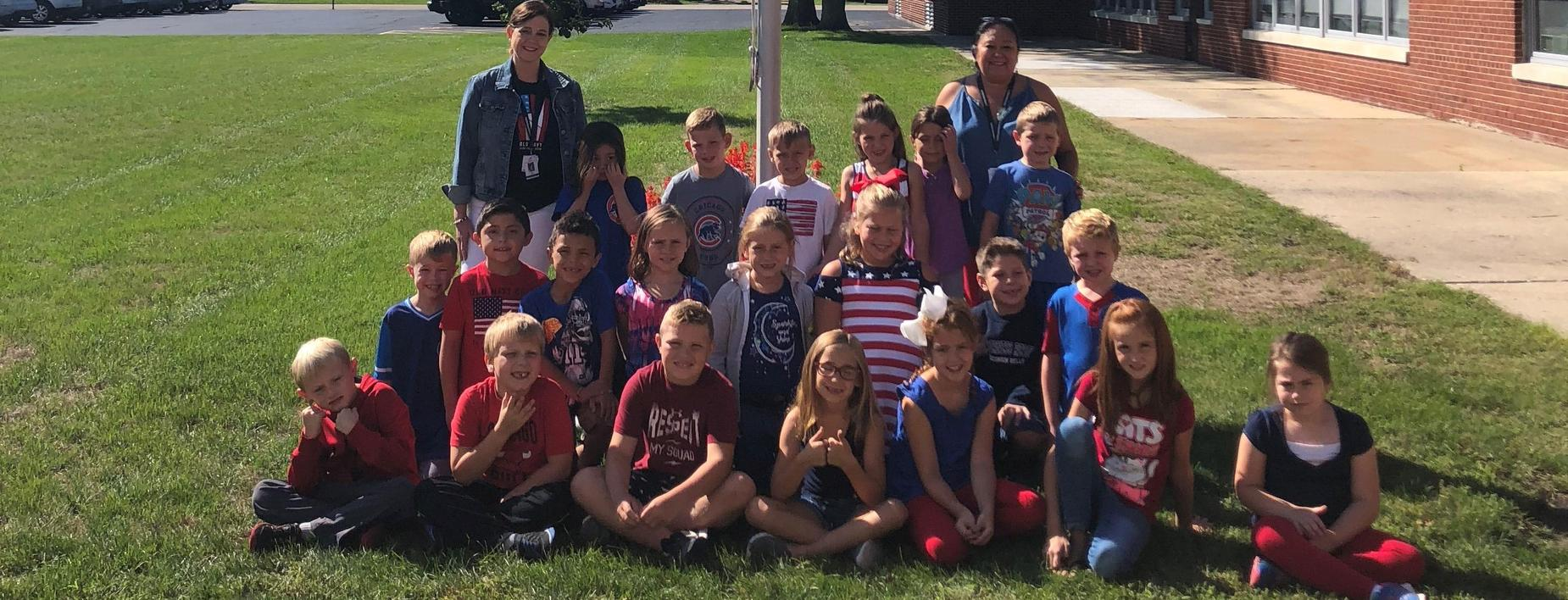 At the flagpole CCES