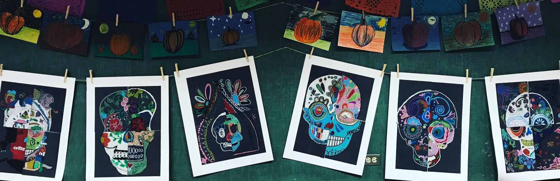 Middle School day of the dead art