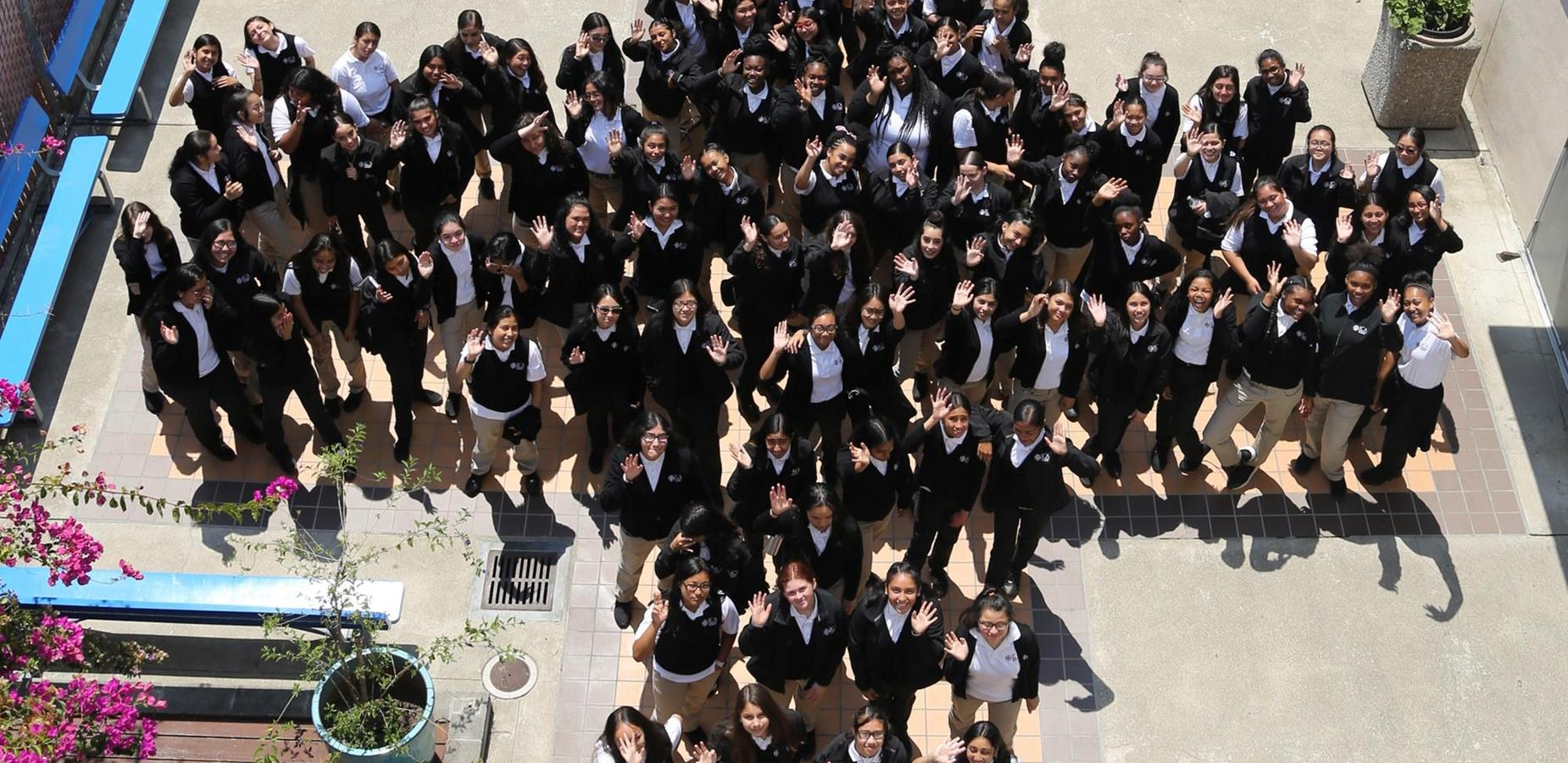 students in student park