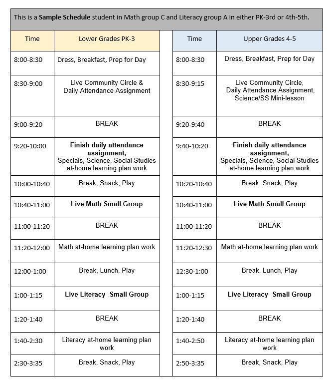 Elementary Schedule 2