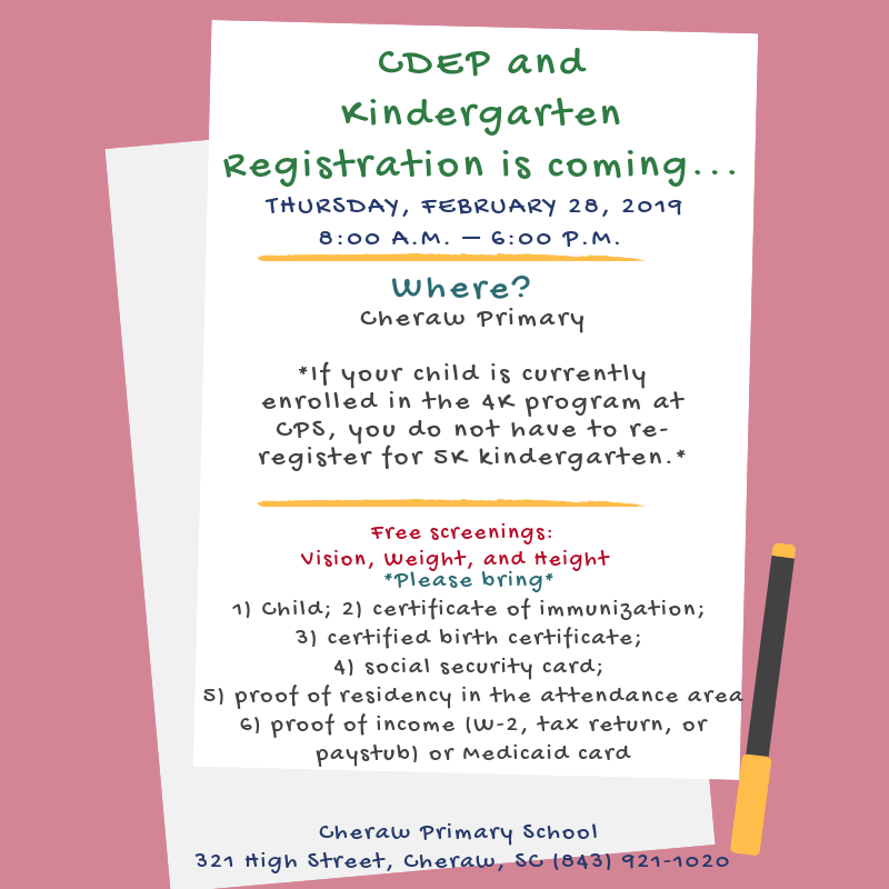 Kindergarten Registration is Thursday, February 28th Featured Photo