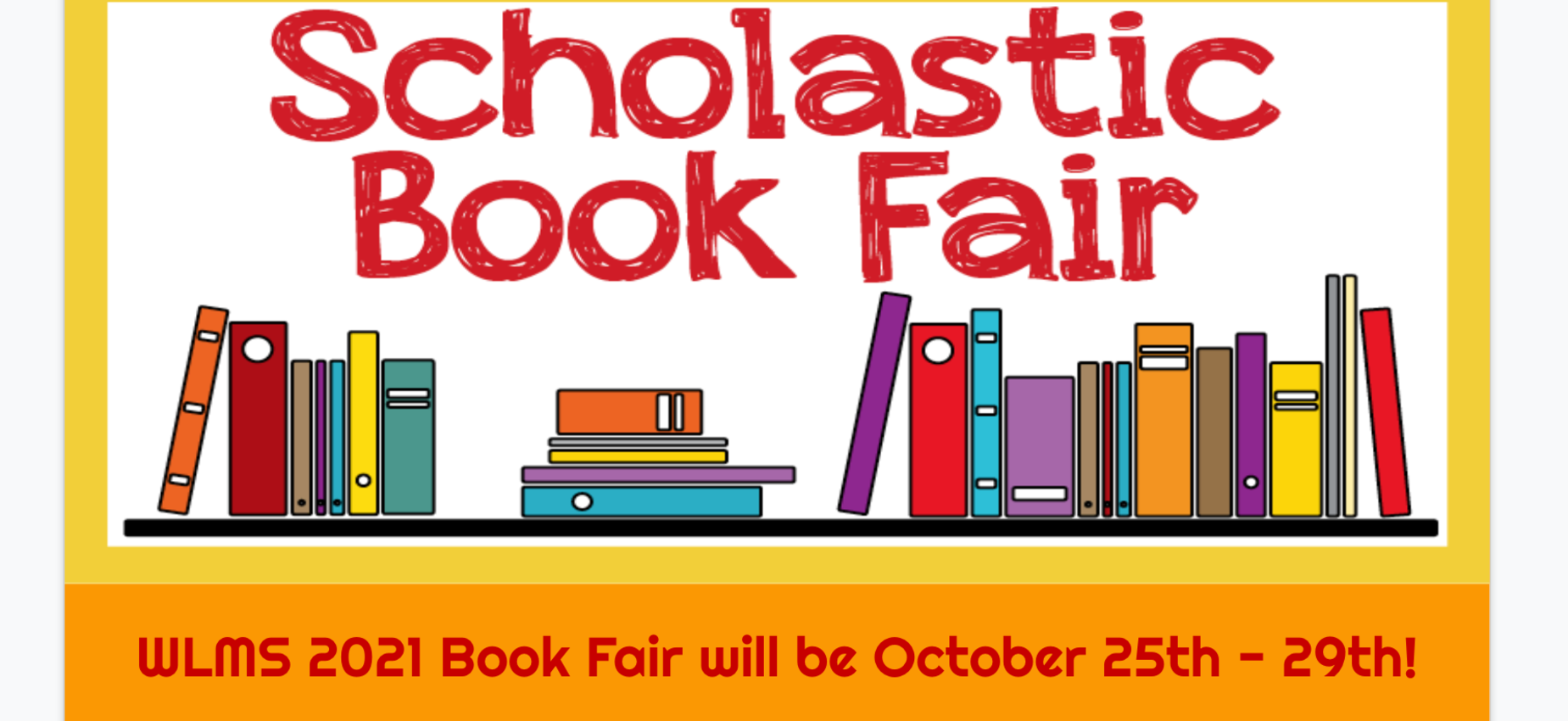 Book Fair October 25-29