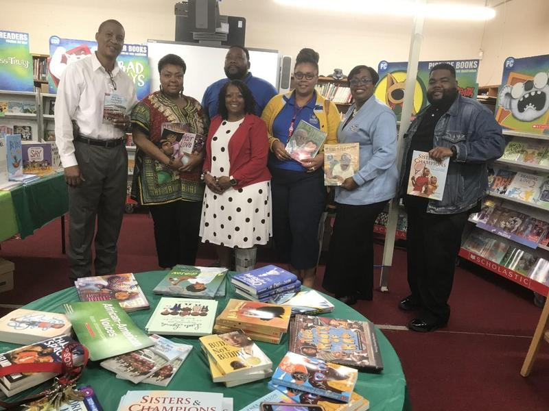 Southern University Ag Center's Vice Chancellor for Extension and Research,  Dr. Dawn Mellion-Patiin along with several colleagues read to PRAMS K-5 students for World Read Aloud Day.