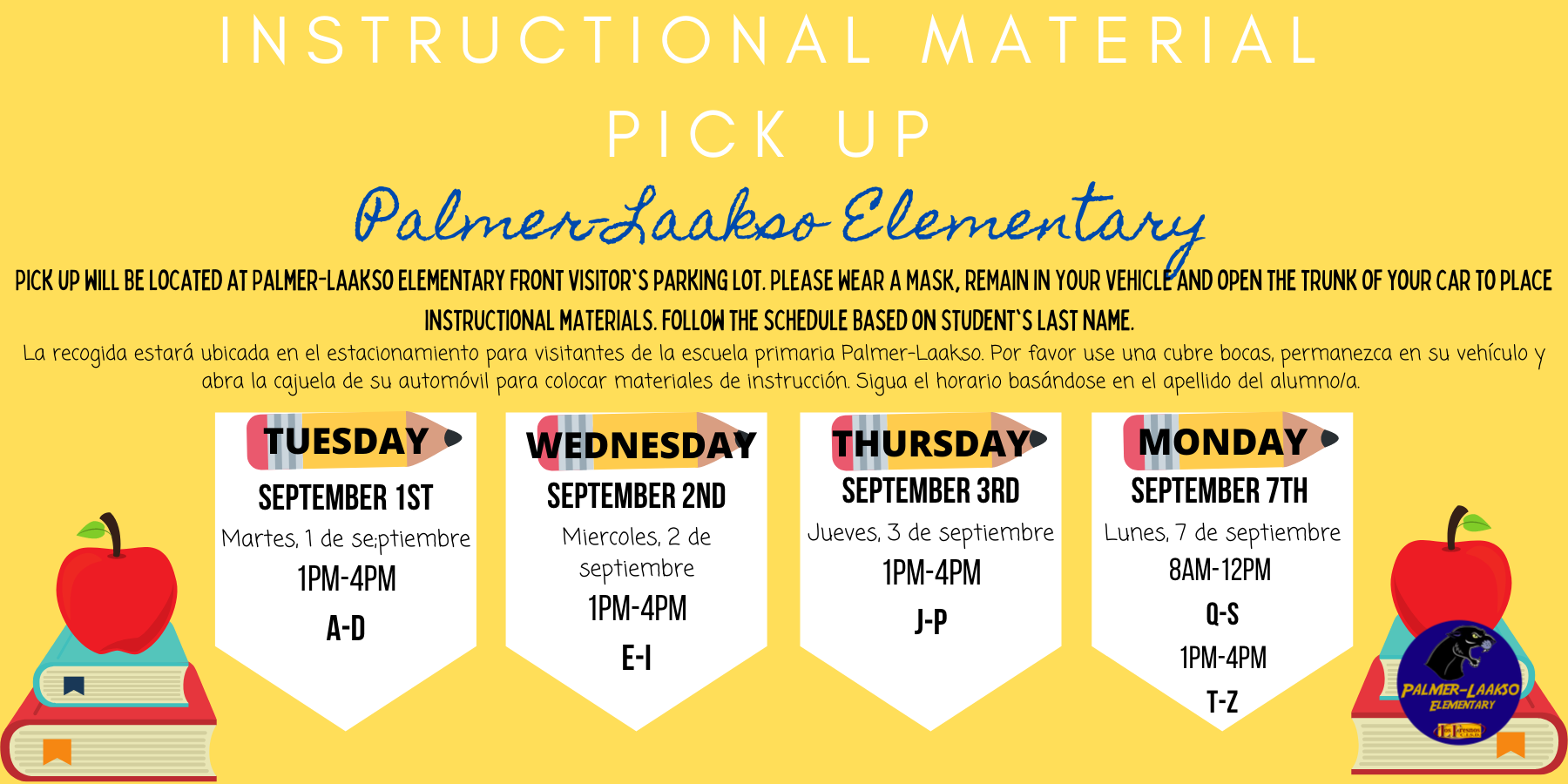 PLE Instructional Material Pick Up